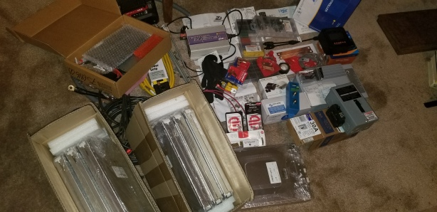 Here are most of the items I ordered pre installation.